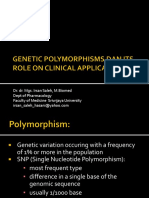 Genetic Polymorphisms Dan Its Role on Clinical Application