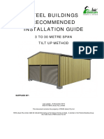 1 Steel Buildings Recommended Installation Guide