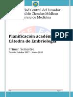 Syllabus Embriologia Primero 2017-2018 (2)