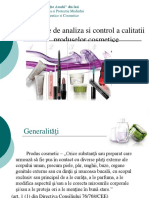 Metode de Analiza Si Control a Calitatii Produselor Cosmetice