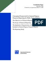 Consultation Paper Conceptual Framework IPSASB