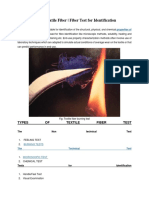 Identification of Textile Fiber