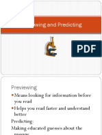 Previewing and Predicting Slide