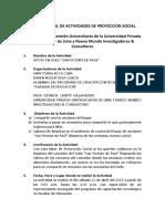 Informe Final Activ de Proyrccion Social