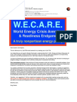 W.E.C.A.R.E. for World Energy Crisis Aversion & Readiness Endgame