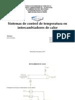Sistema de Control Para Intercambiadores de Calor