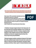 Hasil penelitian dan temuan Penyelewengan KKN DD di Kabupaten Banyuasin Sumsel