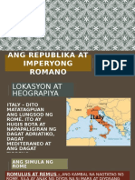 Ang Republika at Imperyong Romano
