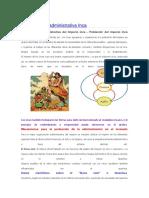 Organización Administrativa Inca