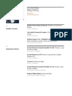 Currículum Vittae - Antonella Miranda