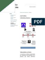 Historia Cronológica - Química Divertida