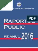 CURTEA de CONTURI - Raportul Public Pe Anul 2016