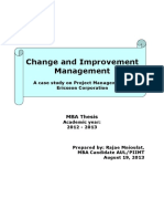 Change and Improvement Management Thesis