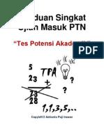 Panduan Singkat Ujian Masuk PTN, Tes Potensi Akademik - Adrianto Puji Irawan