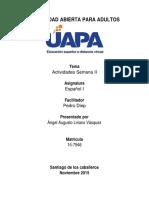 Español - Tarea II