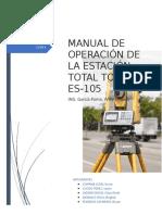 Operacion de Estacion Total Topcon ES 105