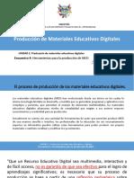 Producción de Materiales Educativos Digitales 4ta Sesión
