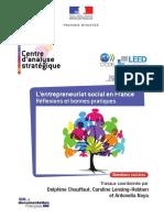 L Entrepreneuriat Social en France Re Flexions Et Bonnes Pratiques