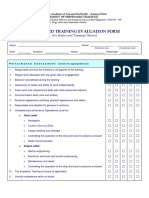 Shipboard Training Evaluation Form (for Masters and Training Officers)