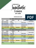 Cronograma Seminario Conquistadores
