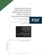 Psicoterapia para Crianças e Adolescentes Vítimas de Violência Sexual no Sistema Público