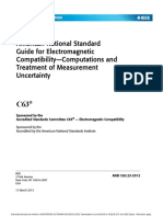 American National Standard Guide for Electromagnetic CompatibilityComputations and Treatment of Measurement Uncertainty