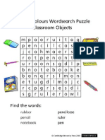 Primary Colours LALL WS Word Search Classroom