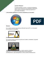 Qué Es El Sistema Operativo Windows