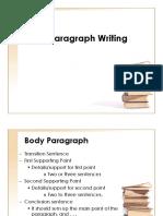Body Paragraph Writing