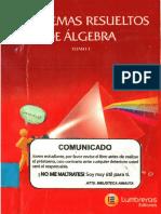 Problemas Resueltos u00e1lgebra Lumbreras Tomo i PDF