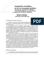 Transición Socialista Nestor Kohan