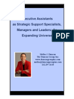 Executive Assistants as Strategic Support