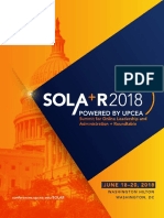 2018 Summit for Online Leadership and Administration + Roundtable (SOLA+R) Print Program