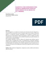 Diagnóstico competencia lingüística