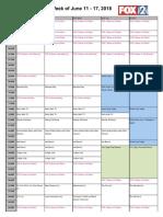 KTVI Summer Schedule