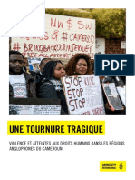Amnesty Internat.-crise Anglophone
