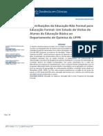 SANTOS, Lucelena Fernanda Ferreira Dos Et. Al.. Contribuições Da Educação Não Formal Para a Educação Formal.