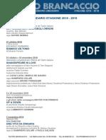 Calendario Stagione 2018-2019 Teatro Brancaccio