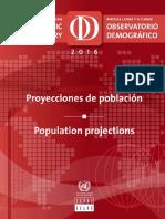 cepal - Projeções de População na América Latina