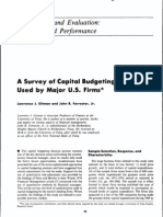 Case- A Survey of Capital Budgeting Techniques by US Firms