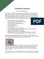 Fertilizatori Naturali