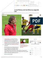 Rusia 2018 _ La Selección Peruana Probó Con Flores y Sin Carrillo