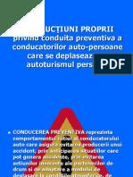 CONDUITA  PREVENTIVA