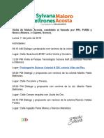 11/06/2018 Visita de Maloro Acosta, Candidato Al Senado Por PRI, PVEM y Nueva Alianza, A Cajeme, Sonora.