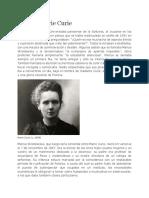 Pierre y Marie Curie