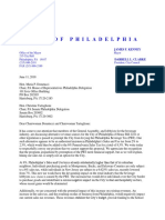 Letter From Mayor Kenney and Council President Clarke on Sales Tax