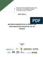 Matrizes Energéticas Alternativas Para Industrialização Do Cal