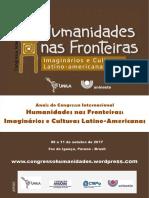 Anais Congresso Humanidades Nas Fronteiras 07-05-18