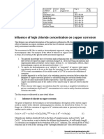 Influence of High Chloride Concentration on Copper Corrosion