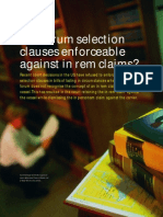 Forum Selection Clauses[1]